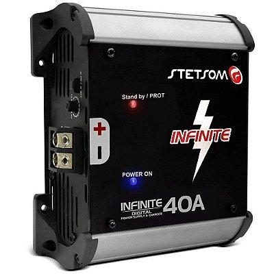 Fonte Automotiva Stetsom Infinite 40A 1000W RMS Bivolt Carregador Digital