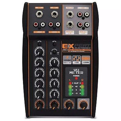 Crossover Expert Eletronics MX-1 12V 4 Canais 2 Vias Processador de Áudio Equalizador Stereo Banda