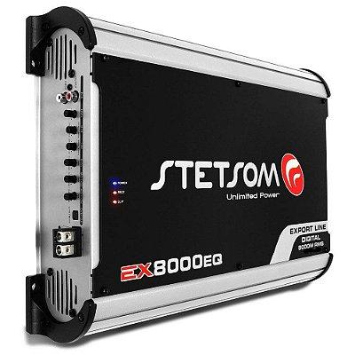 Módulo Amplificador Stetsom Export Line EX 8000EQ 8000W RMS 2 Ohms 1 Canal