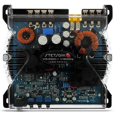 Módulo Amplificador Stetsom Vision VS650.1 650W RMS 2 Ohms 1 Canal Digital