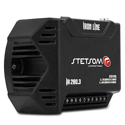 Módulo Amplificador Stetsom Iron Line IR280.3 280W RMS 3 Canais 2 Ohms