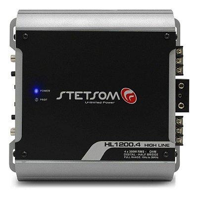 Módulo Amplificador Stetsom High Line HL1200.4 1200W Rms 2 Ohms 4 Canais Digital