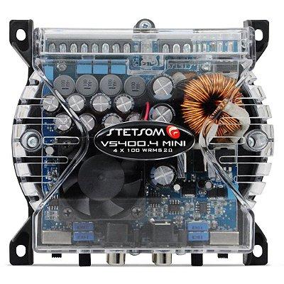 Módulo Amplificador 4 Canais Stetsom VS400.4 MINI