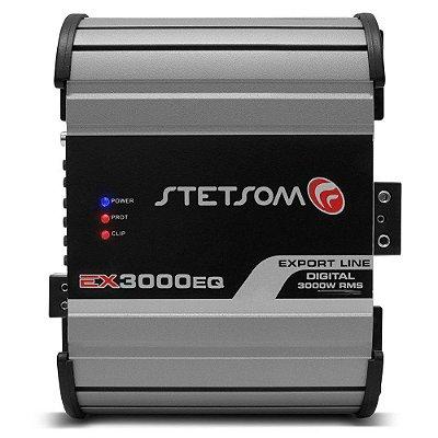 Módulo Amplificador Stetsom Export Line EX 3000EQ 3000W RMS 2 Ohms 01 Canal RCA Digital