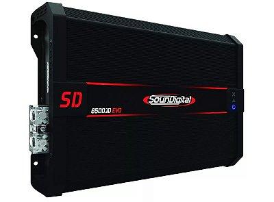 Módulo Amplificador Soundigital SD6500.1D Linha Black 2 Ohms EVO II