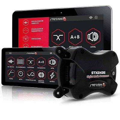 Processador Áudio Digital Stetsom STX2436 4 Saídas 2 Entradas Bluetooth Android