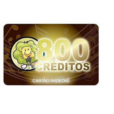Videokê Cartão Pré-pago 800 Créditos Para Pop 200/300/750/850/950/VSK1.0M
