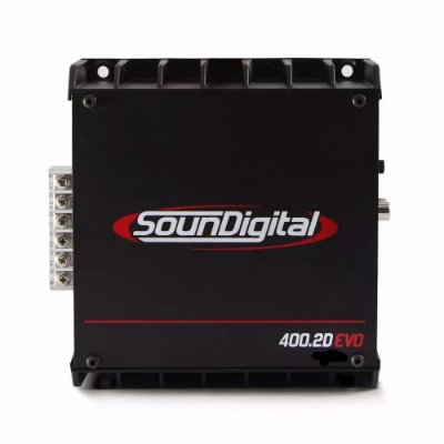 Módulo Amplificador Digital SounDigital SD400.2D EVO II Black - 400 Watts RMS - 4 Ohms