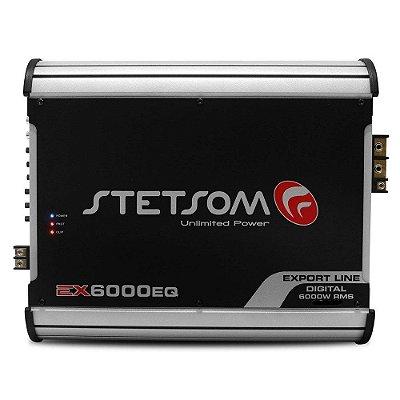 Módulo Amplificador Stetsom Ex6000 Eq 6000 W Rms Mono Ex 6000 2 Ohms