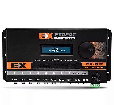 Crossover Banda Expert Eletronics PX-8.2 8 Canais Equalizador Processador de Áudio Digital