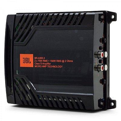 Amplificador Digital JBL Bra-300.3 3 Canais 2 Ohms
