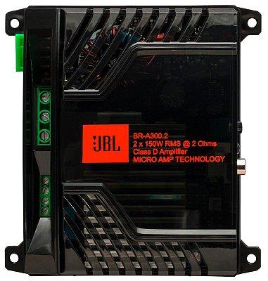 Módulo Amplificador Digital JBL Br-a 300.2 Canais - 300w RMS