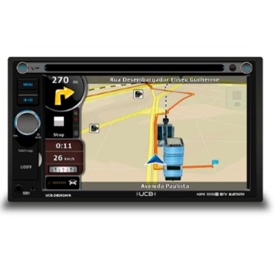 Central Multimídia Ucb Dm262avn Tela 6.2 Gps Tvd Bluetooth Remanufaturado