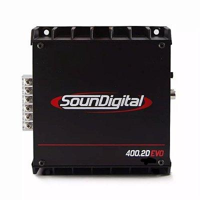 AMPLIFICADOR SOUNDIGITAL SD400.2D EVO Bridge 4 OHMS