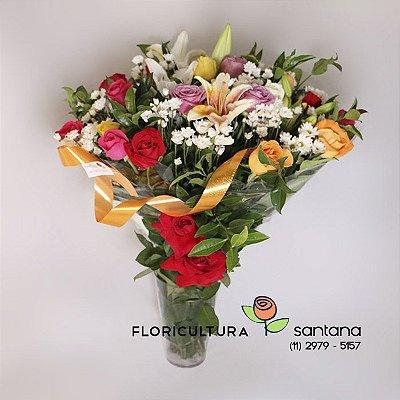 Buquê de flores colorido