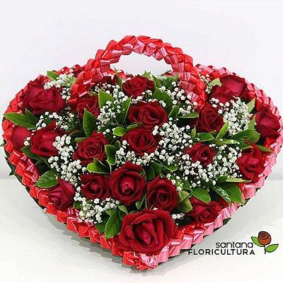 Coração com 22 Rosas