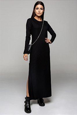 Vestido Longuete Preto