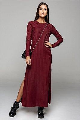 Vestido Longuete Bordô