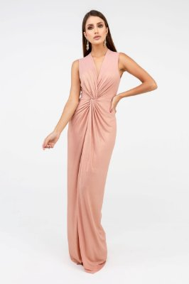 Vestido Longo Glam - Rosé