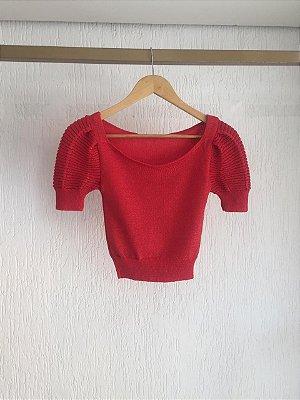 Cropped Tricot Vermelho