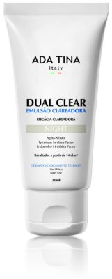 Emulsão Clareadora Dual Clear Night - 30ml - Ada Tina