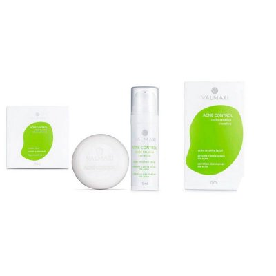 Kit Pele Linda - Sabonete Facial Pele Oleosa + Loção secativa corretiva -  Valmari
