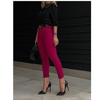 Calça Marsala jeans