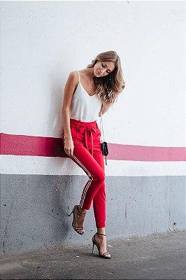 Calça Vermelha Crocha