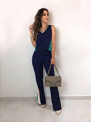 Conjunto Azul Marinho Esmeral