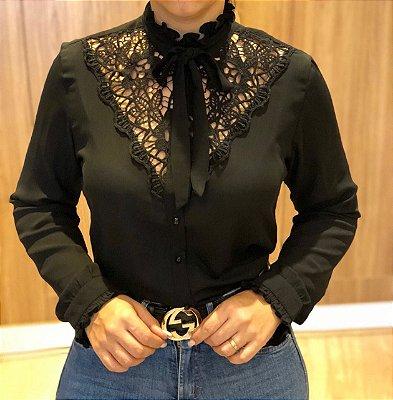 Camisa Preta Aline