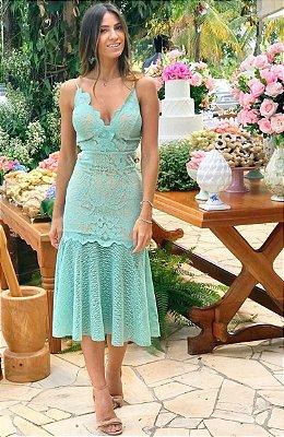 Vestido Mid Esmeral
