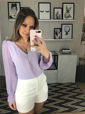 Camisa Lilas Mila