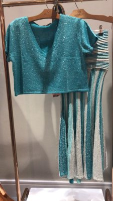Cropped Azul