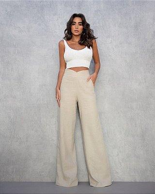 Cropped Trico Branco