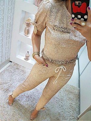 Conjunto nude Camila
