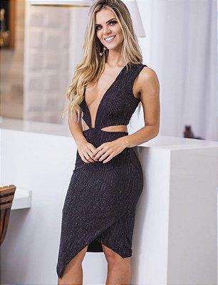 Vestido Mid Lurex