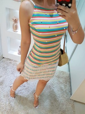 Vestido canelado Raquel