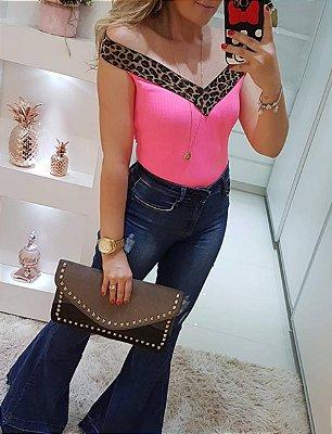 Body Neon Rosa + Onça