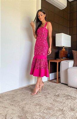 Vestido Mid Rosa