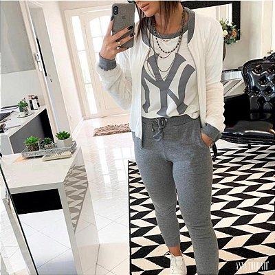 Conjunto NY blusa + Bomber + Calça