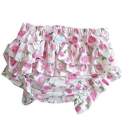 Calcinha tapa fralda floral rosa
