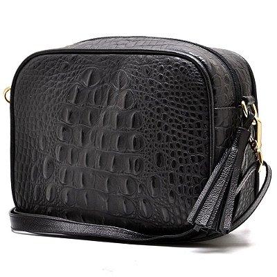 3405e6cc8 bolsa quadrada pequena em couro legitimo preto - Hendy bag