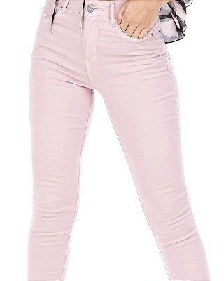 Calça Skinny Rosa Claro