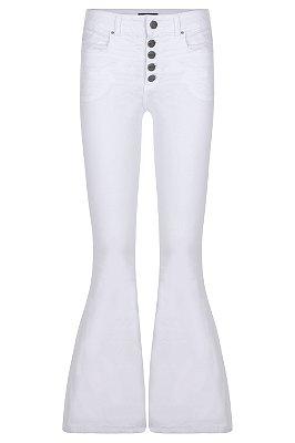 Calça Maxi Flare Branca