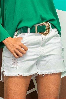 Shorts Jeans Rafa White