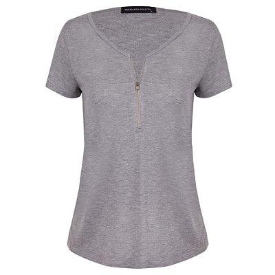 T-shirt Aline Cinza