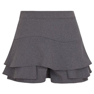 Shorts Saia Cinza