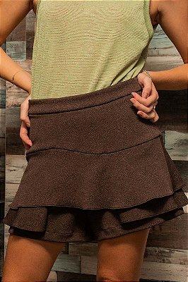 Shorts Saia Marrom