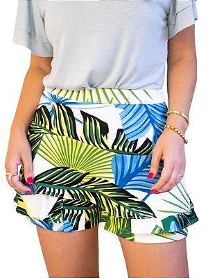 Shorts Saia Babados Floral