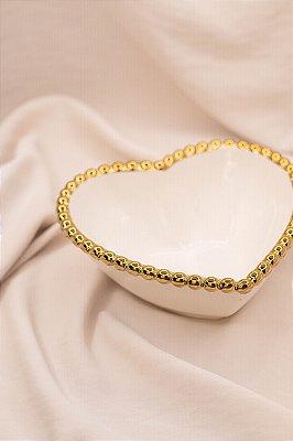Bowl Heart Gold de Cerâmica